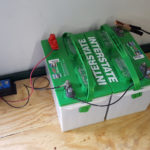 two 6 volt deep cycle RV battery bank